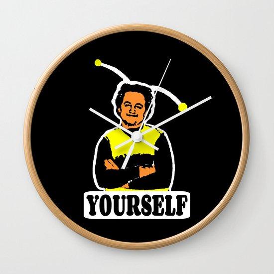 BEE YOURSELF     JOHN BELUSHI Wall Clock