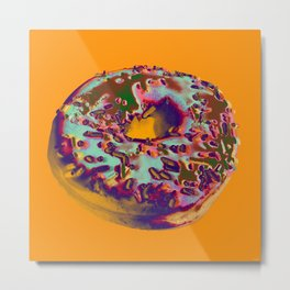 Doughnut pop art Metal Print