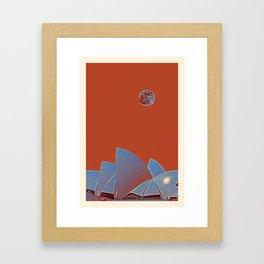Sydney Opera House, Sydney, Australia Travel Poster 3 Framed Art Print