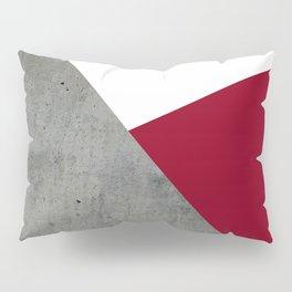 Concrete Burgundy Red White Pillow Sham