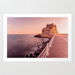 Casino Constanta Seafront Art Print