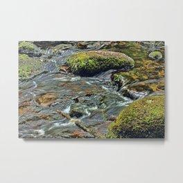 River Dart at Dartmeet Dartmoor. Metal Print