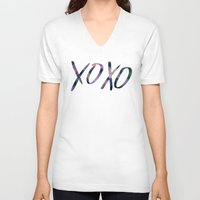 xoxo V-neck T-shirts featuring XOXO by Leah Flores