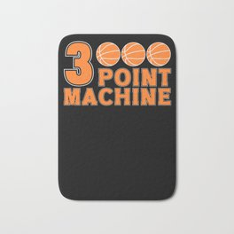Basketball Game Player Fan Three 3 Point Mashine Bath Mat