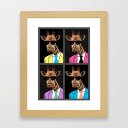 What color suits me better? Framed Art Print