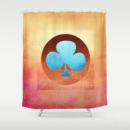 Ace of Trefoil III Shower Curtain