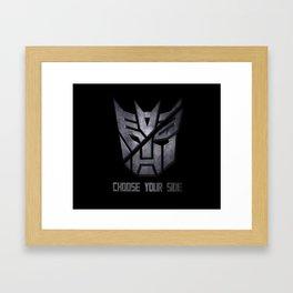 Choose your side Framed Art Print