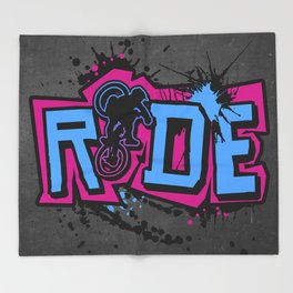 Ride Colors Throw Blanket