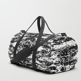 vintage psychedelic graffiti symmetry art abstract in black and white Duffle Bag