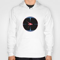 nasa Hoodies featuring Tie Fighter Meets NASA Voyager 1 by Ryan Huddle House of H