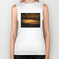 world cup Biker Tanks featuring World Cup 2014: Maracanã by Thomas Campos