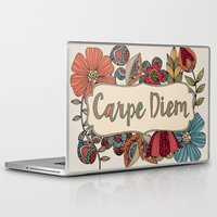 carpe Laptop & iPad Skins featuring Carpe Diem by Valentina Harper
