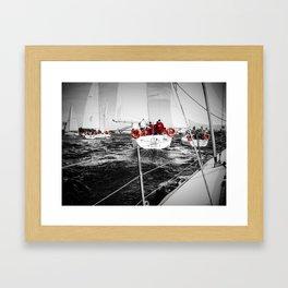 Lifesavers Near the Ocean Framed Art Print