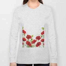 Poppy Mohn Flower Field Long Sleeve T-shirt