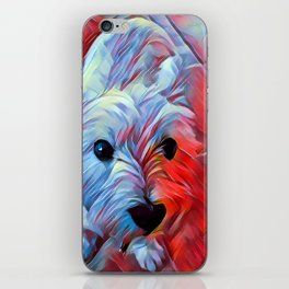 The WESTIE from our POP YOUR POOCH line iPhone Skin
