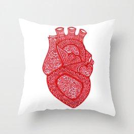Anatomically Correct Heart Design Throw Pillow