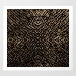 Gold Chain Mail Art Print