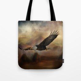Eagle Flying Free Tote Bag