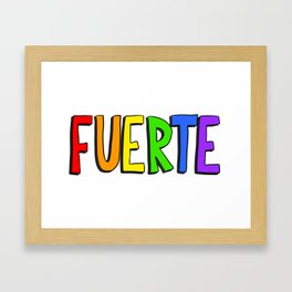 Fuerte - Rainbow Framed Art Print