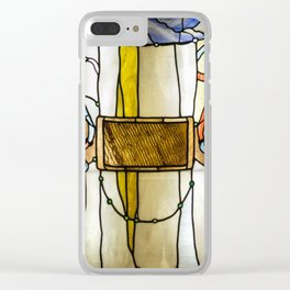 "John La Farge ""Trompe L'Oeil Curtain"" 1882-1884 Clear iPhone Case"