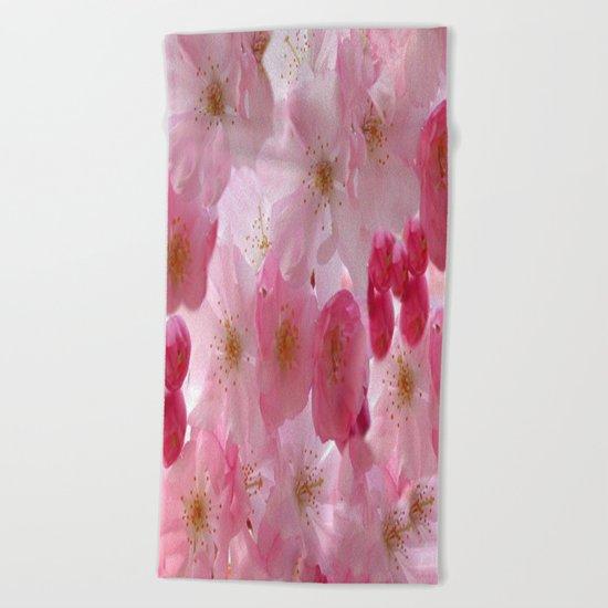 Delicate Cherry Blossoms Beach Towel