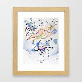 Swimmer One Framed Art Print