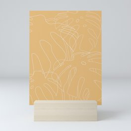 Monstera No2 Yellow Mini Art Print