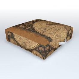 Nova Totius Terrarum Vintage Map Outdoor Floor Cushion