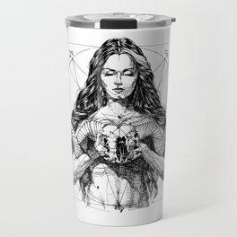 Lady with Skull. Yury Fadeev. Travel Mug