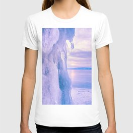 Ice cliff of Lake Baikal T-shirt