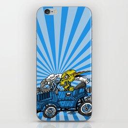 skull car iPhone Skin