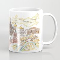 russia Mugs featuring From Russia With Love  by Jess Stewart-Croker