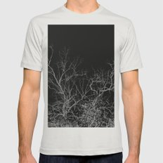 Dark night forest Mens Fitted Tee SMALL Silver