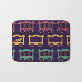 Colourful Circus Carriages Bath Mat