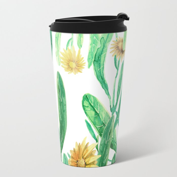 yellow flowers on sunny day Travel Mug