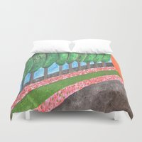 religious Duvet Covers featuring Ten Religious Abstract Art By Saribelle Rodriguez by Saribelle Inspirational Art