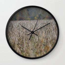 Fall Harvest Wall Clock