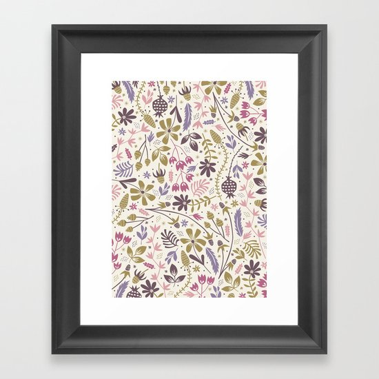 Vintage Blooms Framed Art Print