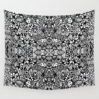 zentangle Wall Tapestries featuring Zentangle  by Zenspire Designs