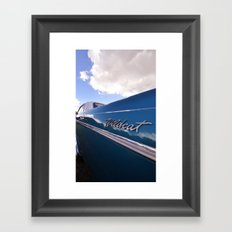 Wildcat - Classic American Blue Car Framed Art Print
