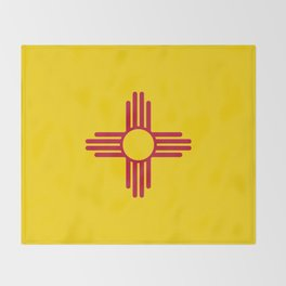 Flag of New Mexico - Authentic High Quality Image Throw Blanket