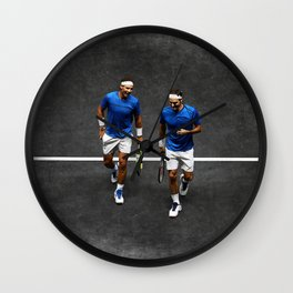 Nadal & Federer Wall Clock