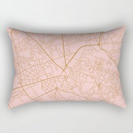 Marrakesh map, Morocco Rectangular Pillow