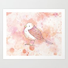 Pink Tweetie Bird Art Print