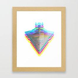 Star Destroyer Star Glitch Wars Framed Art Print