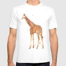 giraffe, african animals, wildlife, cute baby giraffe, nursery animals, safari MEDIUM Mens Fitted Tee White