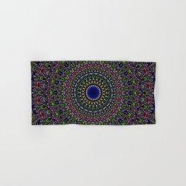 Colorful Sacred Kaleidoscope Mandala Hand & Bath Towel