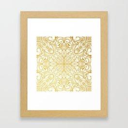 Gold in Mandala Framed Art Print