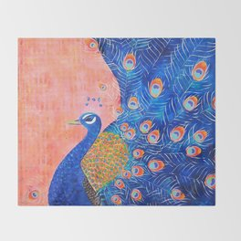 Peacock - I'm Beautiful (And I Know It) Throw Blanket