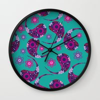 paisley Wall Clocks featuring Paisley by luizavictoryaPatterns